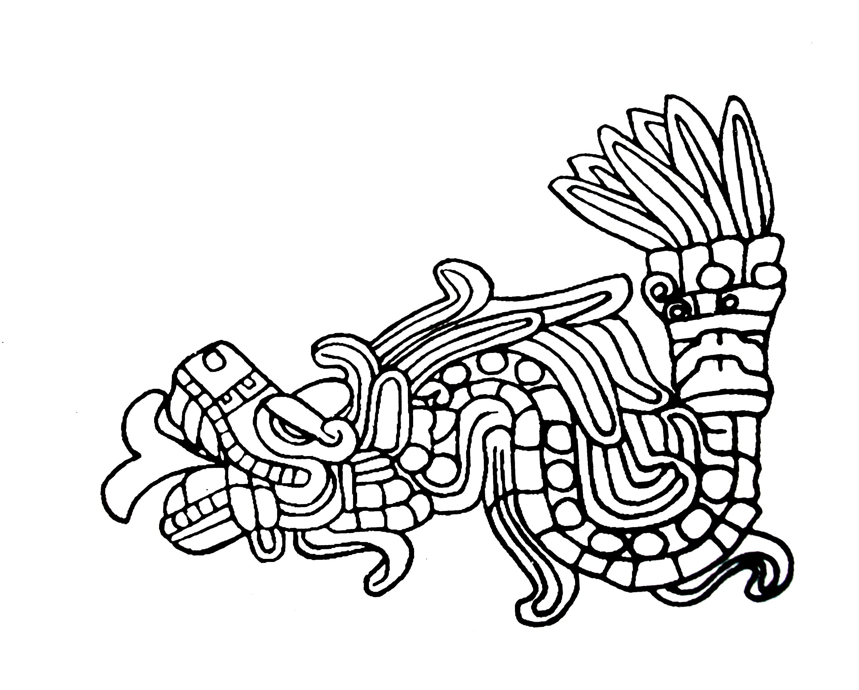 Quetzalc atl historia y mito puri2aprendiendovida for Imagenes de cuadros abstractos en blanco y negro